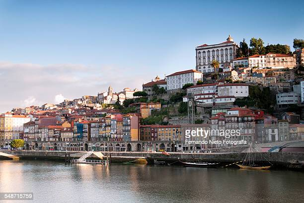 The riverbank Duero River in Porto.