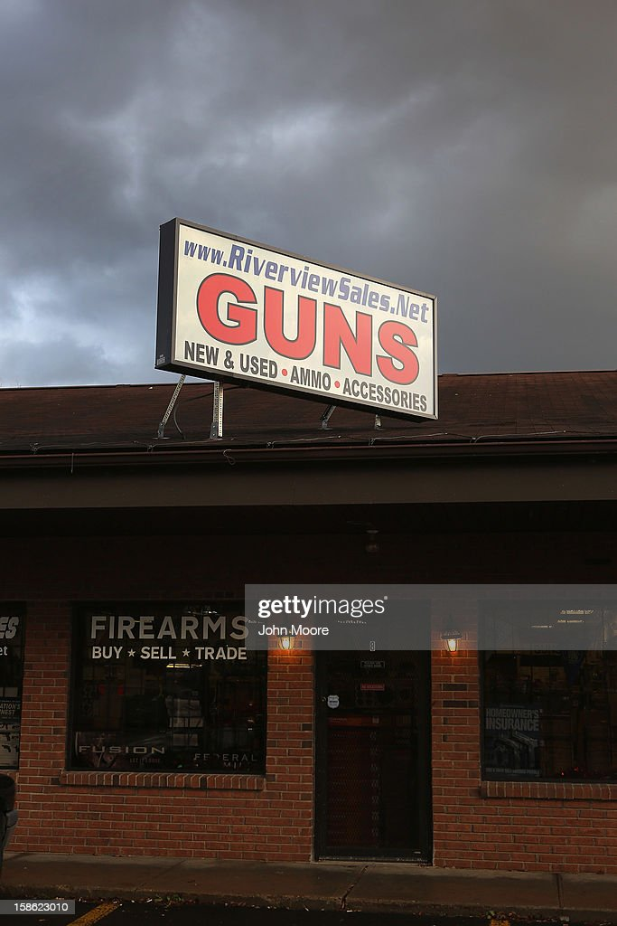 The Riverview Gun Sales shop sits closed on December 21, 2012 in East Windsor, Connecticut. According to the Hartford Courant, sources investigating the massacre at the Sandy Hook Elementary School in Newtown have said the Bushmaster rifle used by the gunman Adam Lanza was legally purchased at the shop by his mother Nancy Lanza. The Courant also reports that records show the guns used in a previous mass shooting in Connecticut in 2010, where Omar Thornton killed eight people and himself at Hartford Distributers Inc, were also purchased at Riverview Gun Sales. On Thursday agents from the federal Bureau of Alcohol, Tobacco, Firearms and Explosives (ATF), and local police raided and closed the gun shop.