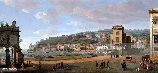 The Riviera of Chiaia at Napoli by Gaspard Van Wittel Palazzo Pitti Florence Italy