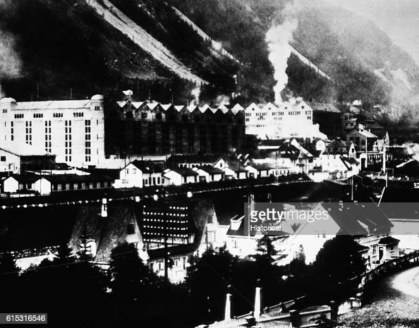 The Rjukan Nitrate Plant in Norway before it was destroyed by British commandos and Norwegian resistance fighters in winter to hinder Nazi research...