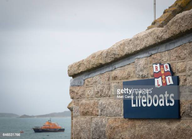 The RNLI lifeboat station on St Mary's on the Isles of Scilly February 22 2017 in Isles of Scilly England The Isles of Scilly are an archipelago of...