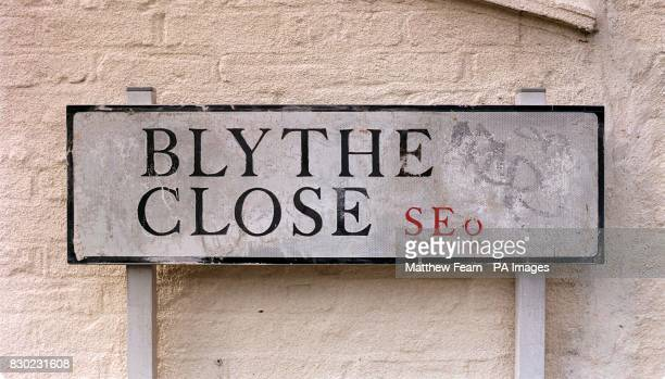 The road sign of Blythe Close in London where a married couple where knifed to death A stunned relative found the bloodsoaked body of John Neale and...