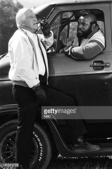 TEAM 'The Road to Hope' Episode 5 Pictured George Peppard as John 'Hannibal' Smith Mr T as BA Baracus Photo by Robert Isenberg/NBCU Photo Bank