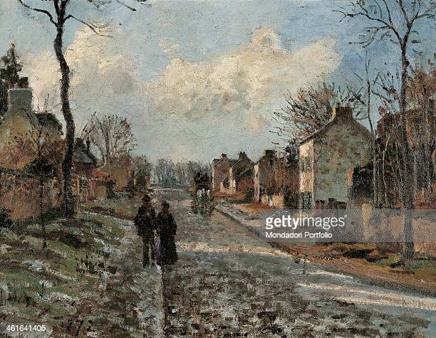 The Road to Louveciennes by Camille Pissarro 19th Century oil on canvas5 x 55 cm France Paris Musée d'Orsay Whole artwork view The road at winter...