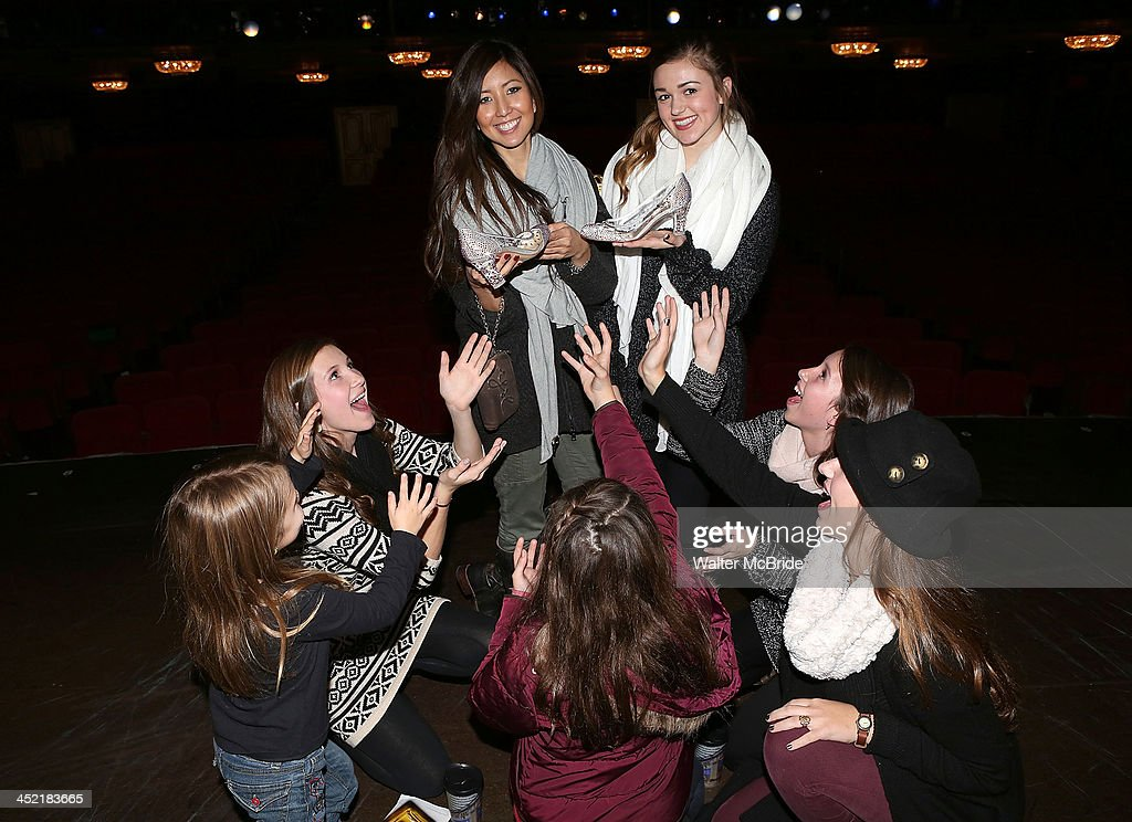 The Robertson girls from 'Duck Dynasty' visit 'Cinderella' On Broadway at the Broadway Theatre on November 26, 2013 in New York City.