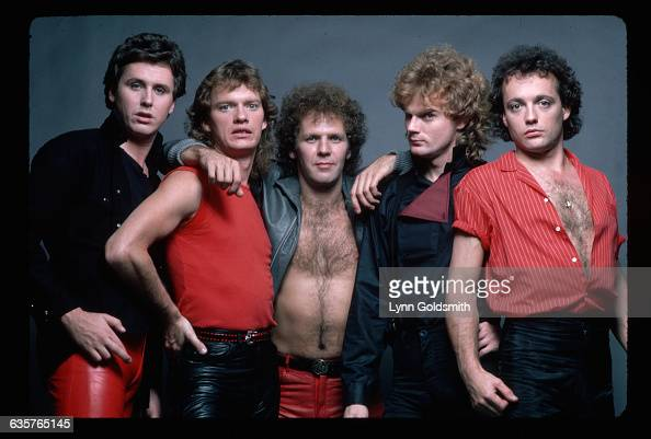 1981 The rock and roll group Loverboy are shown in this studio portrait