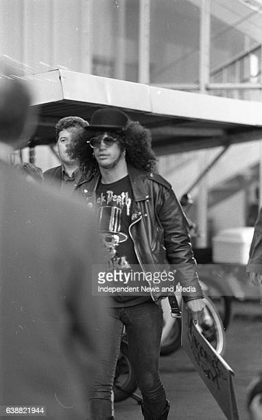 The Rock Band Guns 'n' Roses arriving at Dublin Airport