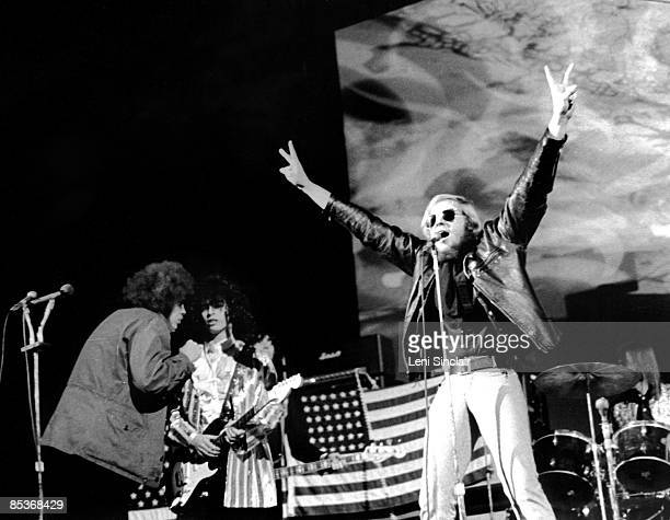 The rock group MC5 perform live at the Ford Auditorium in 1969 in Detroit Michigan
