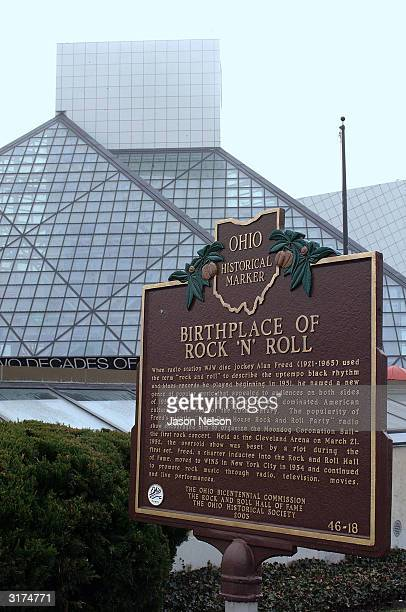 The Rock Roll Hall of Fame is seen March 30 2004 in Cleveland Ohio The Darkness is meeting with fans and signing their new CD 'Permission To Land'