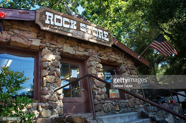 The rock store a restaurant in the Malibu hills on Mulholland highway is a famous hangout for bikers