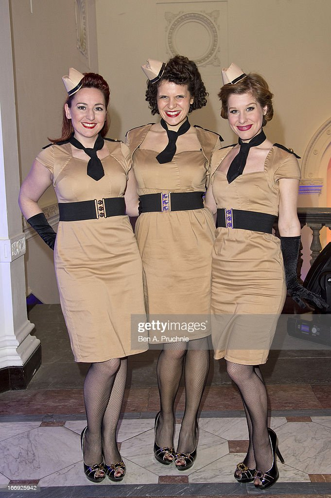 The Rockabellas perform during a private View and VE-Day Party For Calder After The War at Pace London Gallery on April 18, 2013 in London, England.