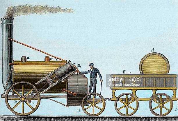 The Rocket Locomotive designed by British engineer and inventor George Stephenson It was the first that was traveling with passengers between the...