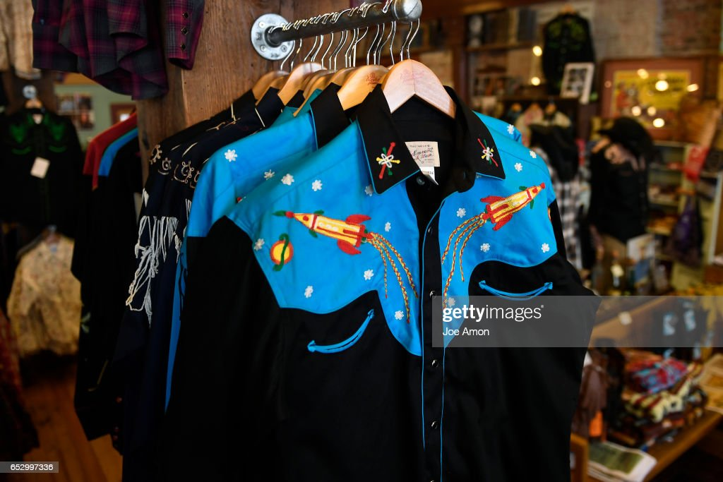 The 'Rocket shirt' the president of Rockmount Ranch Wear, Steve Weil feels is being copied by the Coach, Inc. Fashion company. March 13, 2017, Denver, Colorado.