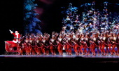 The Rockettes and Santa Claus attend 2012 Radio City Christmas Spectacular Opening Night at Radio City Music Hall on November 13 2012 in New York City