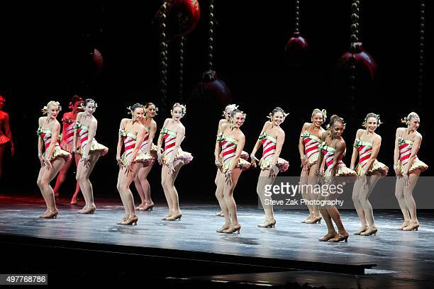 The Rockettes perform at 2015 Radio City Christmas Spectacular Opening Night at Radio City Music Hall on November 18 2015 in New York City