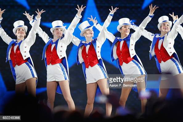 The Rockettes perform at the Freedom Inaugural Ball at the Washington Convention Center January 20 2017 in Washington DC President Trump was sworn...