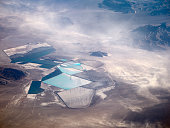 Aerial view of the Rockwood Lithium mine in Silver Peak Nevada