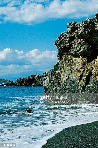 The rocky coast near Maratea Basilicata Italy