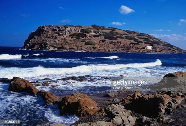 The rocky coastline in Mochlos - Lasithi Province, Crete