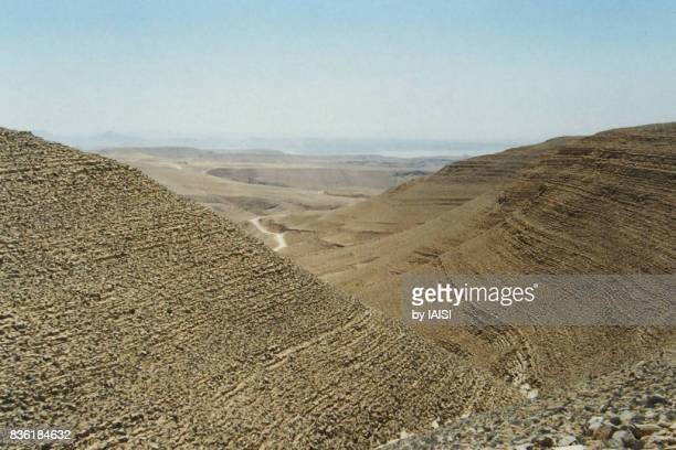 The roclymounts of the Judean desert, east of Jerusalem, in the direction of the Dead Sea