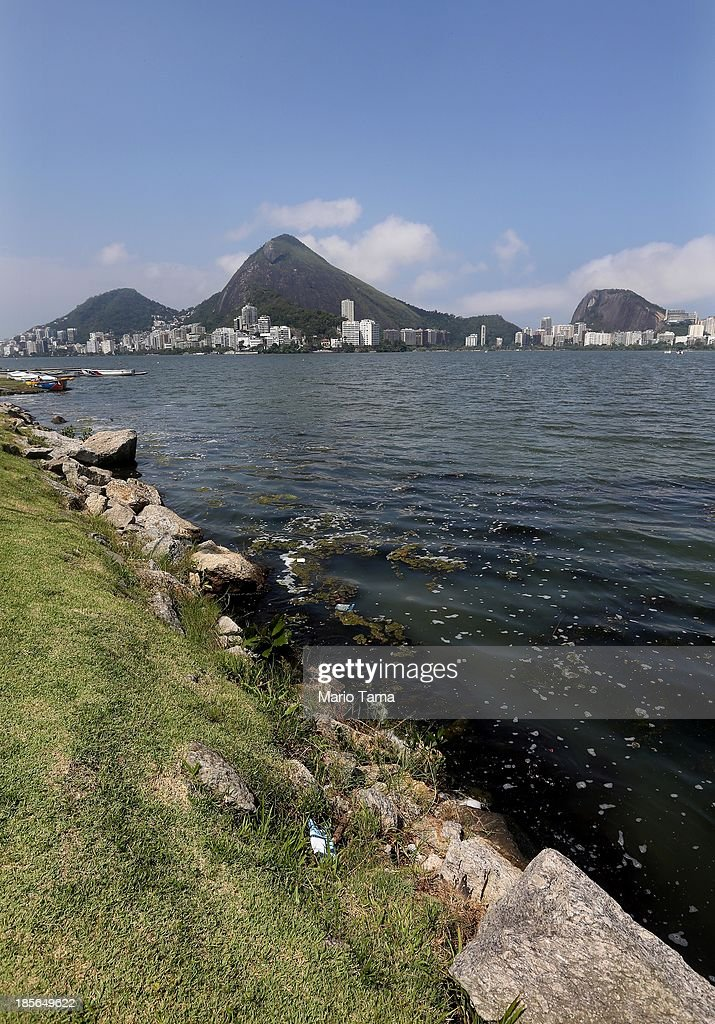 The Rodrigo de Freitas Lagoon (Lagoa Rodrigo de Freitas) is viewed during the 1st World Press Briefing for the Rio 2016 Olympic Games on October 23, 2013 in Rio de Janeiro, Brazil. Preparations for the Rio 2016 Olympic Games are continuing and the lagoon will be used as the venue for rowing competitions during the Games.
