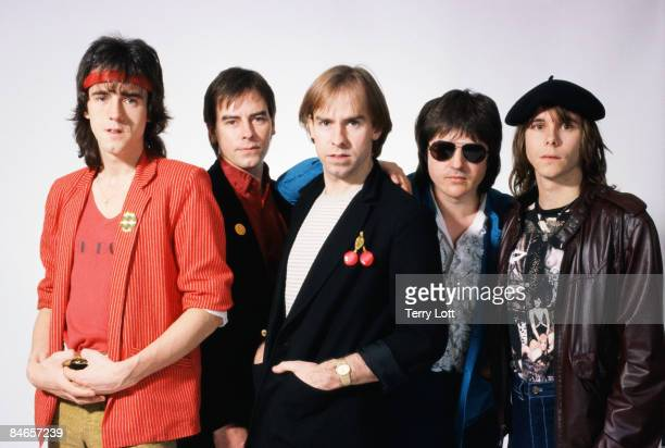 The Rollers during a studio shoot in London circa 1981