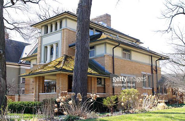 The Rollin Furbeck House built in 1897 and designed and remodeled by famed architect Frank Lloyd Wright in Oak Park Illinois on MARCH 17 2012