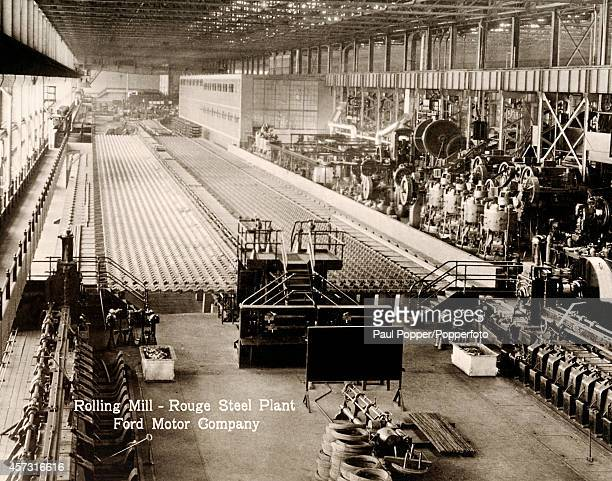 The Rolling Mill assembly line at the Rouge Steel Plant of the Ford Motor Company in Dearborn Michigan circa 1928