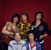 The Rolling Stones are photographed at a portrait shoot in the 1980's in New York City CREDIT MUST READ Ken Regan/Camera 5 via Contour by Getty Images