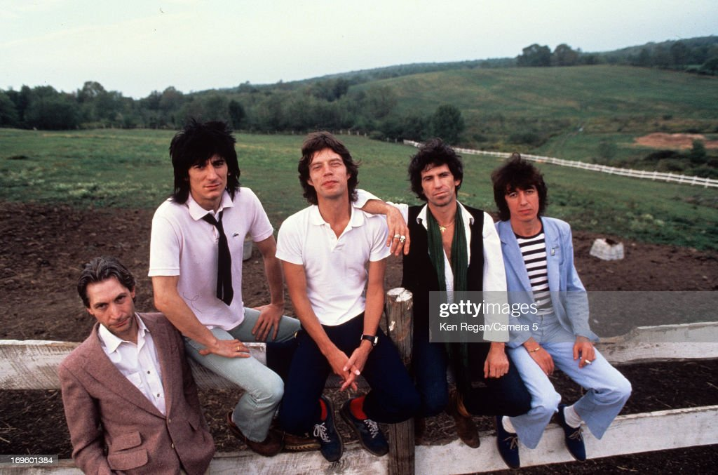 The <a gi-track='captionPersonalityLinkClicked' href=/galleries/search?phrase=Rolling+Stones&family=editorial&specificpeople=85170 ng-click='$event.stopPropagation()'>Rolling Stones</a> are photographed at Longview Farm in September 1981 in Worcester, Massachusetts.