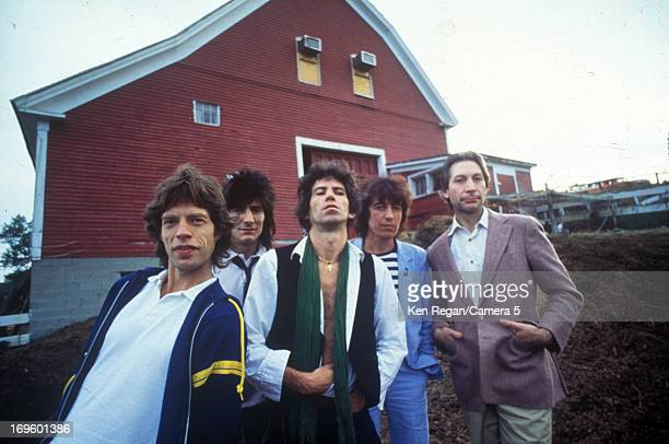 The Rolling Stones are photographed at Longview Farm in September 1981 in Worcester Massachusetts CREDIT MUST READ Ken Regan/Camera 5 via Contour by...