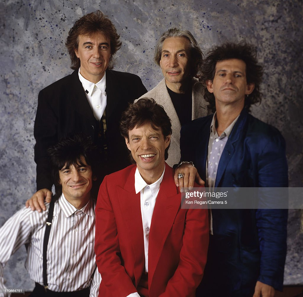 The Rolling Stones are photographed for Time Magazine in 1989 in New York City.