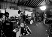The Rolling Stones are photographed rehearsing at artist Andy Warhol's home in 1975 in Montauk New York CREDIT MUST READ Ken Regan/Camera 5 via...