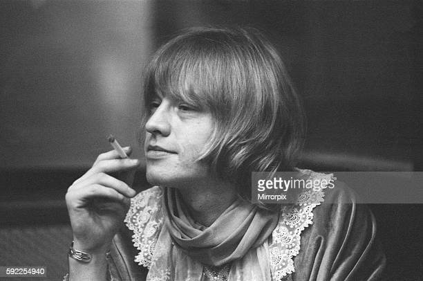 The Rolling Stones at Olympic Recording Studio in Barnes south west London recording backing for the track 'We Love You' Brian Jones at the session...