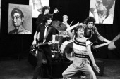 The Rolling Stones Bill Wyman Ron Wood Charlie Watts Mick Jagger and Keith Richards during a rehearsal at SIR Studios on June 30 1981 in New York...