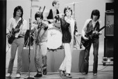 The Rolling Stones during rehearsals New York May 1978 L R Ronnie Wood Keith Richards Charlie Watts Mick Jagger Bill Wyman