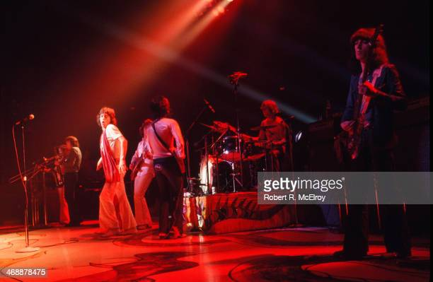 The Rolling stones in concert New York New York July 26 1972 Pictured from left are Mick Jagger Mick Taylor Keith Richards Charlie Watts and Bill...