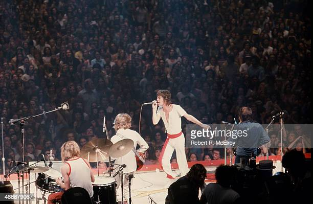 The Rolling stones in concert New York New York July 26 1972 Pictured from left are Charlie Watts Keith Richards and Mick Jagger along with...