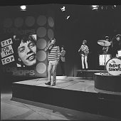 The Rolling Stones perform as 'Tip For The Top' on BBC TV show Top Of The Pops circa 1965 LR Mick Jagger Bill Wyman Brian Jones Keith Richards...