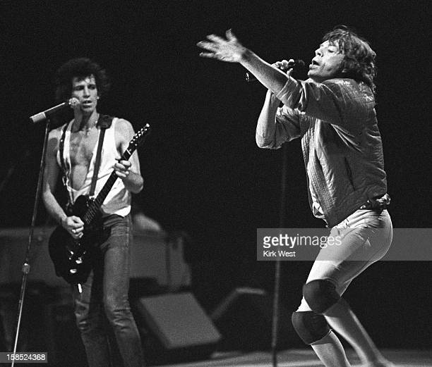 The Rolling Stones perform at the Rosemont Horizon Chicago Illinois November 24 1981