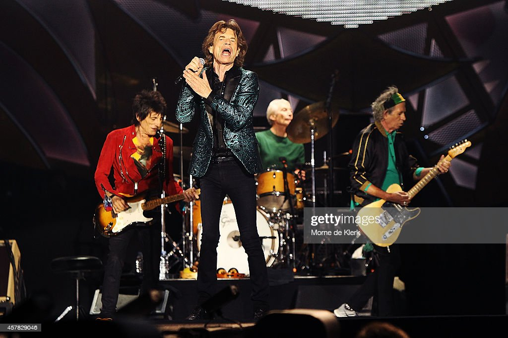 The Rolling Stones perform live at Adelaide Oval on October 25 2014 in Adelaide Australia