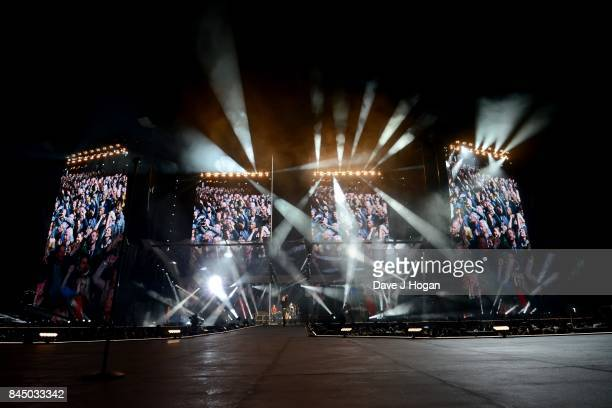 The Rolling Stones perform on the opening night of their European 'No Filter' tour on September 9 2017 in Hamburg Germany