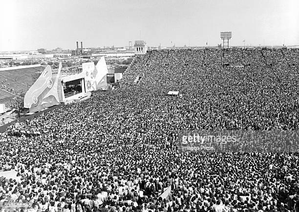 The Rolling Stones performing at JFK Stadium circa 1981 in Philadelphia Pennsylvania