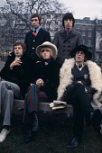 The Rolling Stones pictured together for a press call in Green Park London on 11th January 1967 Clockwise from top left Charlie Watts Bill Wyman...