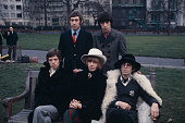 The Rolling Stones pictured together in Green Park London for a press call on 11th January 1967 Clockwise from top left Charlie Watts Bill Wyman...