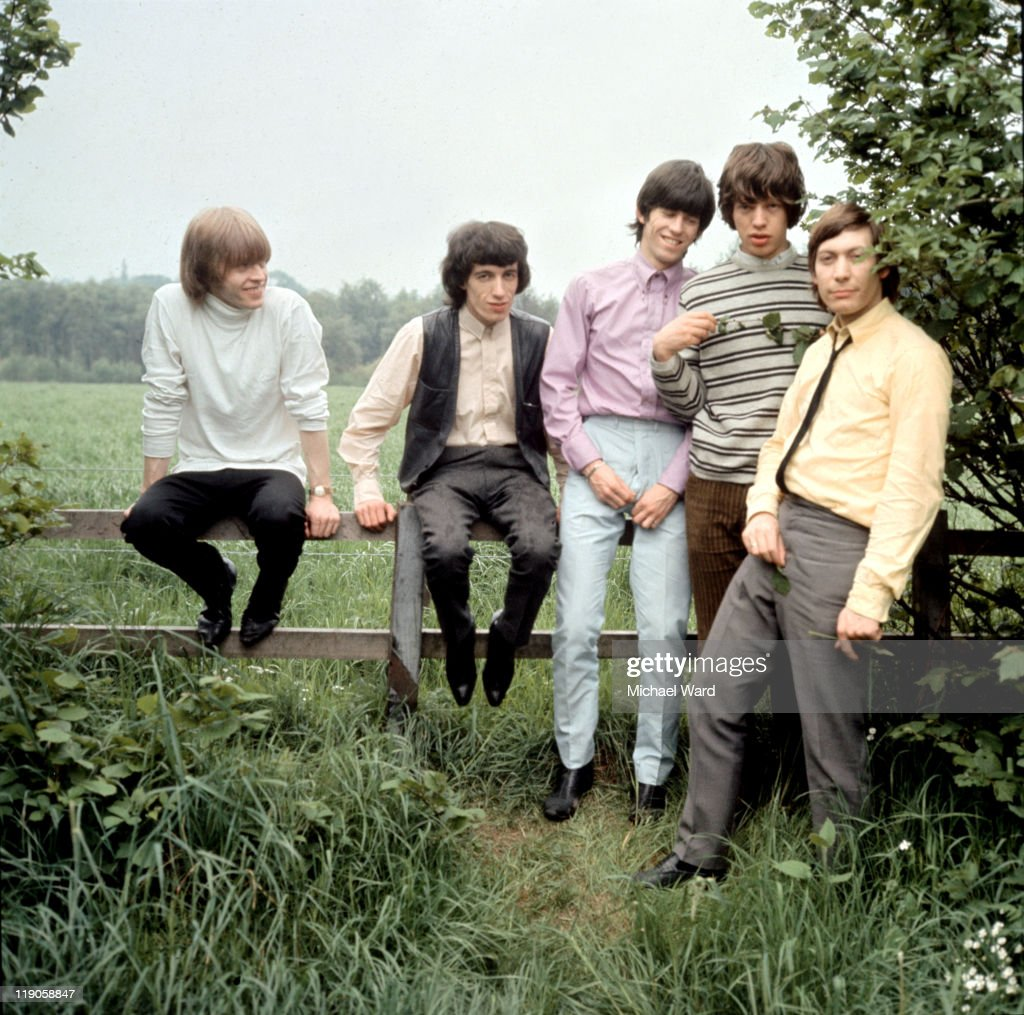 The Rolling Stones posing for a picture in the countryside, <a gi-track='captionPersonalityLinkClicked' href=/galleries/search?phrase=Brian+Jones+-+Rolling+Stones&family=editorial&specificpeople=206495 ng-click='$event.stopPropagation()'>Brian Jones</a>, <a gi-track='captionPersonalityLinkClicked' href=/galleries/search?phrase=Bill+Wyman&family=editorial&specificpeople=157859 ng-click='$event.stopPropagation()'>Bill Wyman</a>, <a gi-track='captionPersonalityLinkClicked' href=/galleries/search?phrase=Keith+Richards+-+Musician&family=editorial&specificpeople=202882 ng-click='$event.stopPropagation()'>Keith Richards</a>, <a gi-track='captionPersonalityLinkClicked' href=/galleries/search?phrase=Mick+Jagger&family=editorial&specificpeople=201786 ng-click='$event.stopPropagation()'>Mick Jagger</a> and <a gi-track='captionPersonalityLinkClicked' href=/galleries/search?phrase=Charlie+Watts&family=editorial&specificpeople=213325 ng-click='$event.stopPropagation()'>Charlie Watts</a>, 1964.