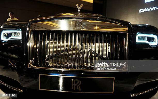 The RollsRoyce 'DAWN' motor car is displayed during the launch in Chennai on August 5 2016 / AFP / ARUN SANKAR