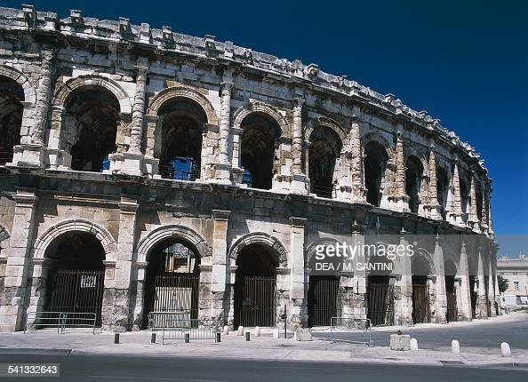 The Roman amphitheatre in Nimes LanguedocRoussillon France 1st century