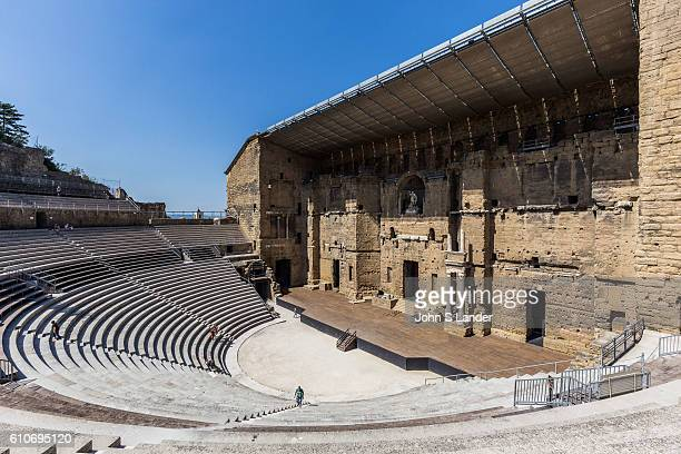PROVENCE ORANGE VAUCLUSE FRANCE The Roman Amphitheatre of Orange is one of the finest examples of architecture of the Roman Empire so much so that it...