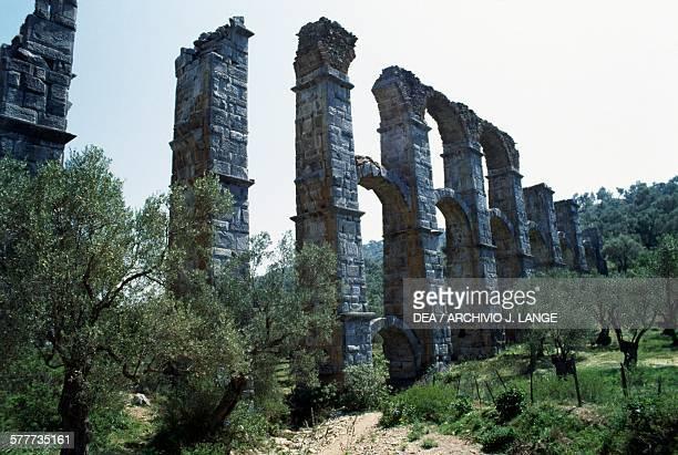 The Roman aqueduct at Moria Lesvos island Greece Roman civilisation 2nd3rd century